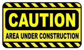 Caution Area Under Construction Royalty Free Stock Photos
