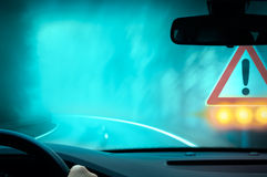 Caution - Bad Weather Driving Royalty Free Stock Photos