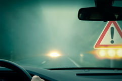 Caution - Bad Weather Driving Stock Images