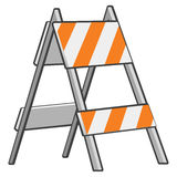 Caution barrier or sawhorse  Royalty Free Stock Photo