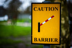 Caution barrier sign Royalty Free Stock Image