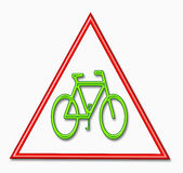 Caution bike sign Stock Photo