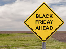 Caution - Black Friday Ahead. Caution Sign - Black Friday Ahead Stock Images