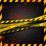 Caution. A blood spreading of criminal investigate zone Stock Image
