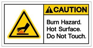Free Caution Burn Hazard Hot Surface Do Not Touch Symbol Sign, Vector Illustration, Isolate On White Background Label .EPS10 Stock Image - 182574741