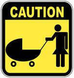 Caution children crossing Stock Photos