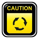 Caution - circullar move Royalty Free Stock Images