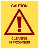 CAUTION Cleaning in Progress Royalty Free Stock Images