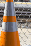 Caution Cone. This is a photograph of an orange caution Royalty Free Stock Image