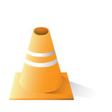 Caution cone Royalty Free Stock Images