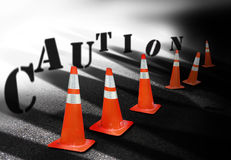 Caution cones 2 Royalty Free Stock Photo