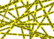 Caution Cordon Tape. Three Dimensional Caution Cordon Tape Stock Image