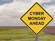 Caution - Cyber Monday Ahead Royalty Free Stock Image