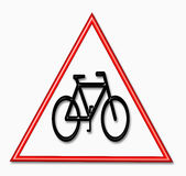 Caution cycle sign Stock Images