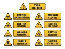 Caution, Danger, Warning signs. Caution signs, Danger signs, Warning signs, triangle signs set Royalty Free Stock Photo
