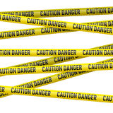 Caution and  danger yellow tape Royalty Free Stock Photography