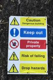 Danger sign keep out private property Stock Photo