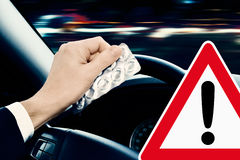 Caution - Dangerous Driving Stock Photography