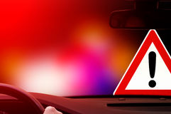 Caution - Dangerous Driving - Warning Sign Royalty Free Stock Images