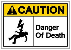 Caution Of Death Symbols Sign, Vector Illustration, Isolated On White Background Label. EPS10 vector illustration
