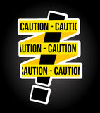 Caution design Royalty Free Stock Photography