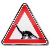 Caution dinosaur Royalty Free Stock Photos
