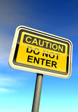Caution - do not enter Royalty Free Stock Images