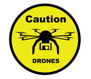 Caution Drone Royalty Free Stock Photography