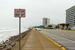 Caution Drop Off Stock Photography