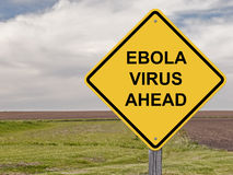Caution - Ebola Virus Ahead Stock Photo