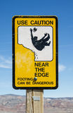 Caution Edge Sign Royalty Free Stock Photos