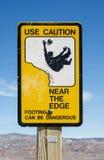 Caution Edge Sign Royalty Free Stock Photos