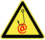 Caution email fraud Royalty Free Stock Photography