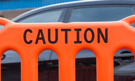 Caution Fence Stock Photography
