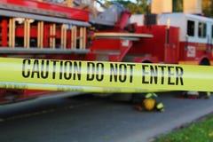 Caution fire Stock Photos