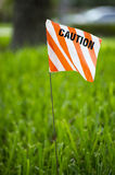 Caution flag Stock Image