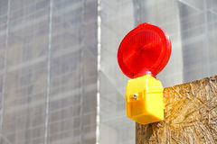 A Caution flashing lamp at hazard zone Stock Photography