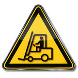 Caution forklift Royalty Free Stock Photos