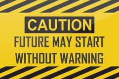 Caution future royalty free stock photography
