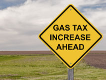 Caution - Gas Tax Increase Ahead Stock Photography
