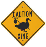Caution Goose Crossing stock image