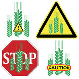 Caution Grain Product Stock Image