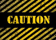 Caution. Grunge background with black and yellow stripes Stock Photography
