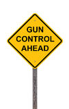 Caution - Gun Control Ahead Stock Photography