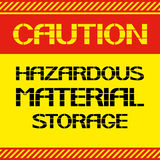 Caution .Hazardous material storage. Stock Images