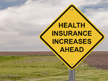 Caution - Health Insurance Increases Ahead Stock Photos