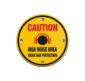 Caution high noise area - circle sign Royalty Free Stock Images