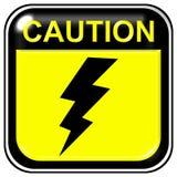 Caution - high voltage stock illustration