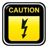 Caution - high voltage Royalty Free Stock Photo