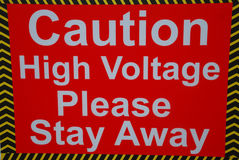 Caution High Voltage Stock Photos